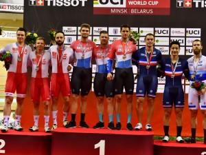 Torowy PŚ: Polscy sprinterzy srebrni w drużynie