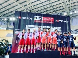 Srebrny medal dla drużyny sprinterów  -  Puchar Świata w nowozelandzkim Cambridge